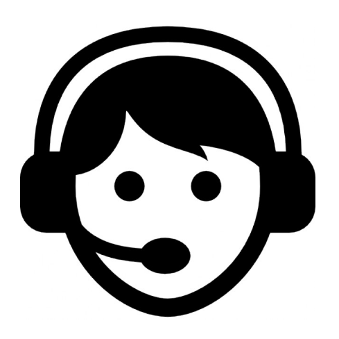 Customer support operator. icon.