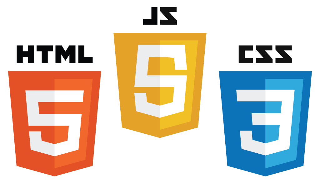Logos of HTML CSS and Javascript